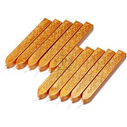 Arany színű – Kanócos pecsétviasz /10 db