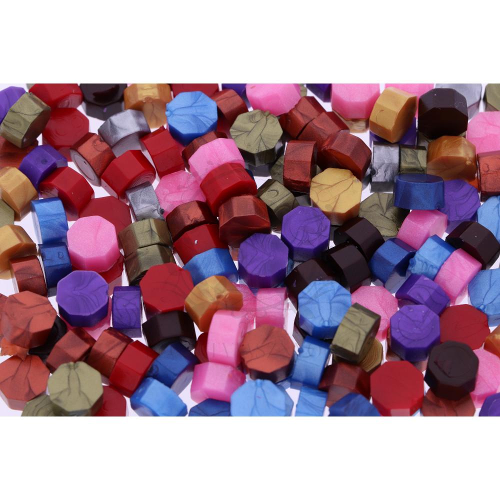 Pecsétviasz gyöngyök vegyes színben  – 230 db / csomag